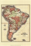 Small Antique Map of S. America (P) Art Print