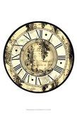 Small Aged Elegance Clock Art Print