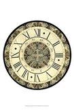 Small Vintage Motif Clock Art Print