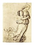 Sepia Woman Dancing Art Print