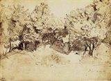 Sepia Corot Landscape Art Print