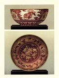 Oriental Bowl and Plate I Art Print