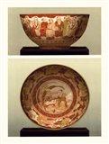 Oriental Bowl and Plate II Art Print