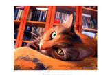 Kitty that Reads Art Print