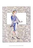 50's Fashion V Art Print