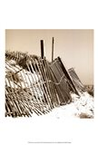 Fences in the Sand I Art Print