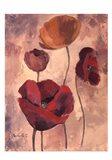 Textured Poppies I Art Print
