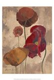 Textured Poppies II Art Print