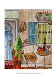 Greek Cafe II Art Print