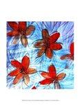 Flower Strokes II Art Print