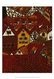Red Roofs I Art Print
