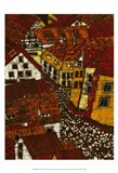 Red Roofs II Art Print