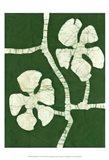 Green Blooms I Art Print