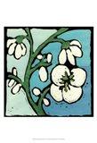 Teal Batik Botanical II Art Print