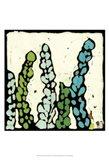 Teal Batik Botanical III Art Print