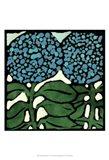 Teal Batik Botanical V Art Print