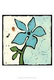 Teal Batik Botanical VI Art Print