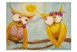 Hoo's Branch for Two Art Print