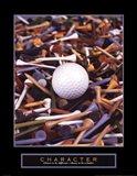 Character - Golf Tees Art Print