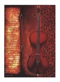 Red Cello Art Print