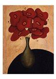 Bouquet Rouge Art Print