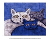 Ice Cats Art Print