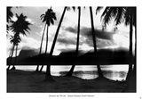 Sunset at Raiatea, French Polynesia Art Print
