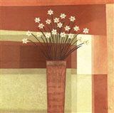 Floral Geometry In Orange Art Print