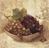 Sunlit Grapes Art Print