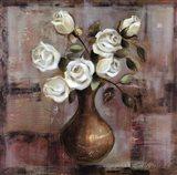 Roses on White Background Art Print