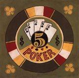 Poker - $5 Art Print