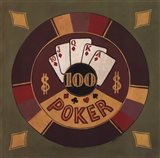 Poker - $100 Art Print