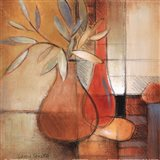 Afternoon Bamboo Leaves I Art Print