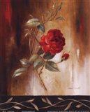 Crimson Rose I Art Print