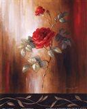 Crimson Rose II Art Print