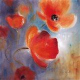 Scarlet Poppies In Bloom I Art Print