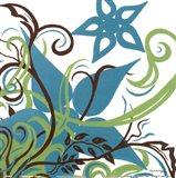 Floral Twist II Art Print