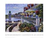 Lighthouse At Sauzon Art Print