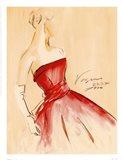 Red Dress I Art Print
