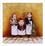 Christmas Waiters Art Print