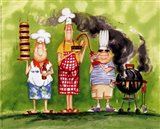 BBQ Chefs II Art Print