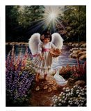 Caring In My Father's Garden Art Print