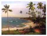 Tropical Coastline Art Print