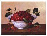 Still Life With Cherries Art Print