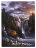 Misty Falls Art Print