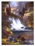 Sunrise Falls Art Print