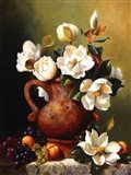 Magnolias In Terra Cotta Art Print