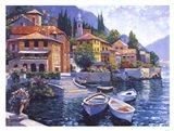 Lake Como Landing Art Print