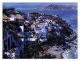 Hillside Villas Art Print