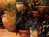 Flower Pots Left Art Print